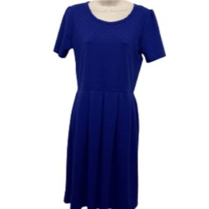 LuLaRoe Navy Blue Dress
